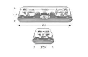 Esg Blaze11 Single-bolt 400mm 12v - flashing-beacons.co.uk