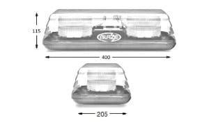 Esg Blaze11 2-bolt 400mm Led  12v-24v - flashing-beacons.co.uk
