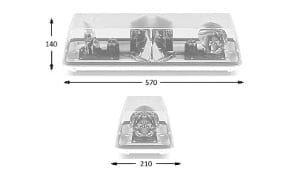 Esg 70-series 4-bolt 570mm 12v - flashing-beacons.co.uk
