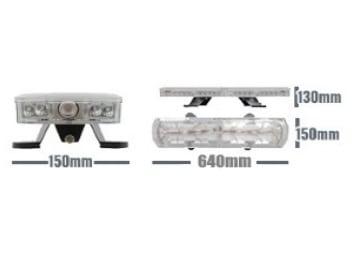 Ic360 Gemini 640mm Led Bolt-mount 12v Controller-version - flashing-beacons.co.uk