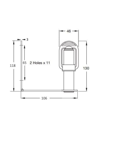 Ic360 Ultrabrite-led Flexi-din 12v-24v Package - flashing-beacons.co.uk