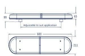 Lap Titan 600mm Led Reg65 12v-24v - flashing-beacons.co.uk