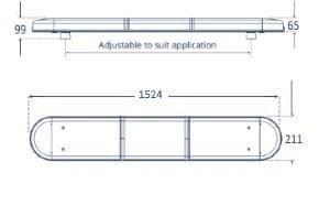 Lap Titan 1500mm Led Reg65 12v-24v - flashing-beacons.co.uk