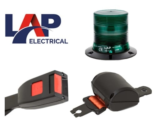 Lap Seatbelt-kit 3-bolt Led Green-beacon 12v-24v - flashing-beacons.co.uk