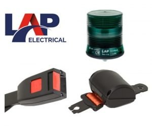 Lap Seatbelt-kit Single-bolt Led Green-beacon 12v-24v - flashing-beacons.co.uk