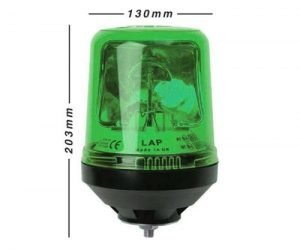 Lap121g Single-bolt Green 12v - flashing-beacons.co.uk
