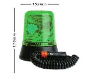Lap259g Magnetic Green 12v - flashing-beacons.co.uk