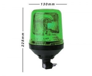 Lap269g Din-pole-mount Green 12v - flashing-beacons.co.uk