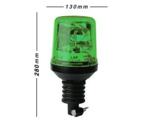 Lap271g Flexi-din-pole Green 12v - flashing-beacons.co.uk