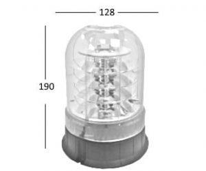Ic360  R65-led Magnetic 12v-24v - flashing-beacons.co.uk