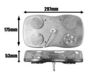 Ic360 Genesis Bolt-mounted 300mm R65-led 12v-24v - flashing-beacons.co.uk