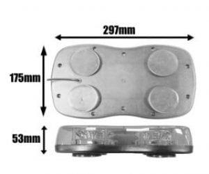 Ic360 Genesis Magnetic 300mm R65-led 12v-24v - flashing-beacons.co.uk