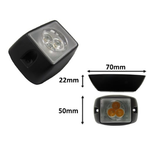 Ic360 Square 3led Module 12v-24v - flashing-beacons.co.uk