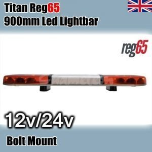 Lap-titan Amber  Led-reg65 12/24v 900mm Illuminated-center - flashing-beacons.co.uk