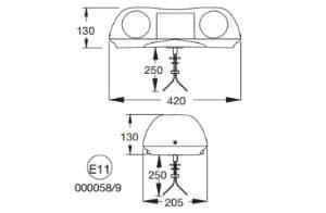 Britax Aerolite Single-bolt 420mm 12v - flashing-beacons.co.uk