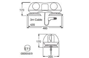 Britax Aerolite Magnetic 420mm 12v - flashing-beacons.co.uk