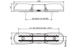 Britax Aerolite 1000mm 24v Quad-halogen - flashing-beacons.co.uk